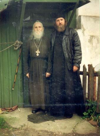 Отец Михаил Женочин со старцем Николаем Гурьяновым