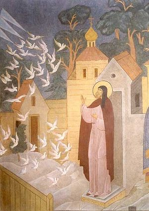 St. Sergius and the vision of the birds.
