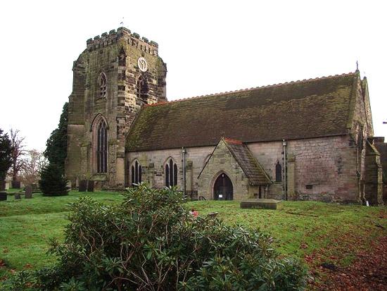 Загрузить увеличенное изображение. 640 x 480 px. Размер файла 89836 b.  Монастырская церковь в деревне Поулсворт, графство Уорикшир