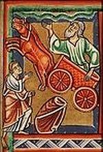 Когда они шли и дорогою разговаривали, вдруг явилась колесница огненная и кони огненные, и разлучили их обоих, и понесся Илия в вихре на небо. 4 Цар. 2:11