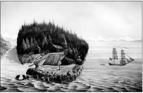 Spruce Island in St. Herman's time.