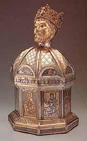 Реликварий с частицей мощей святого короля Освальда в Хильдесхайме, Германия