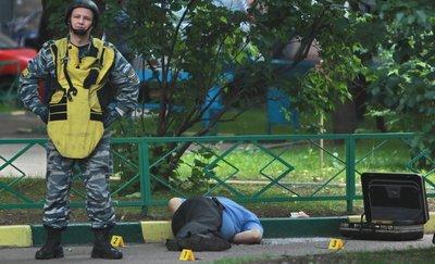 На месте убийства полковника Юрия Буданова