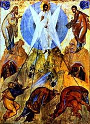 Преображение Господне. Икона Феофана Грека, XIVв.