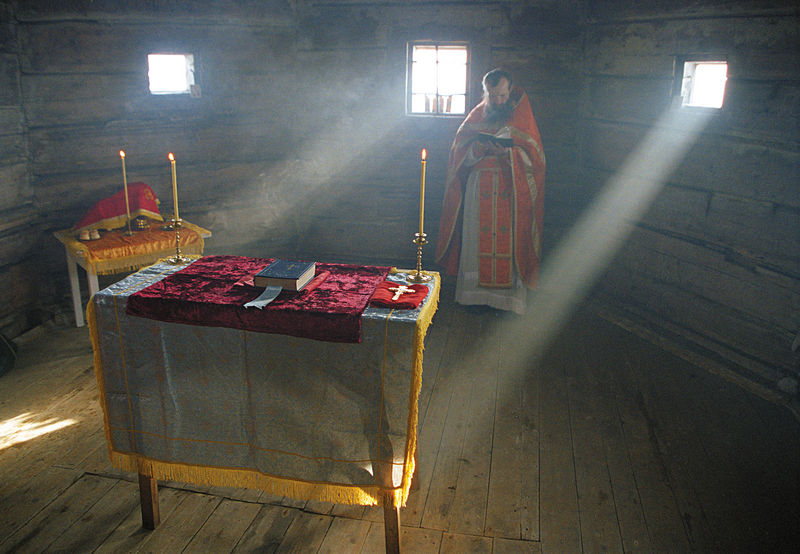 Liturgy in the Church of St. Andrew.