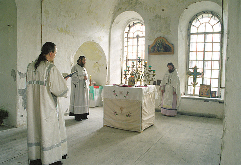 Feast of the Ascenson, Liturgy in the Ascension Church on Sekira Hill.