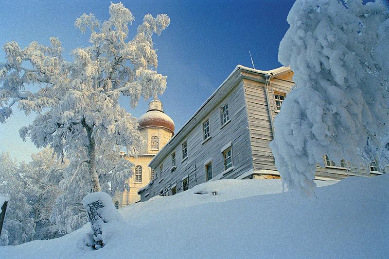 On Sekira hill in winter.
