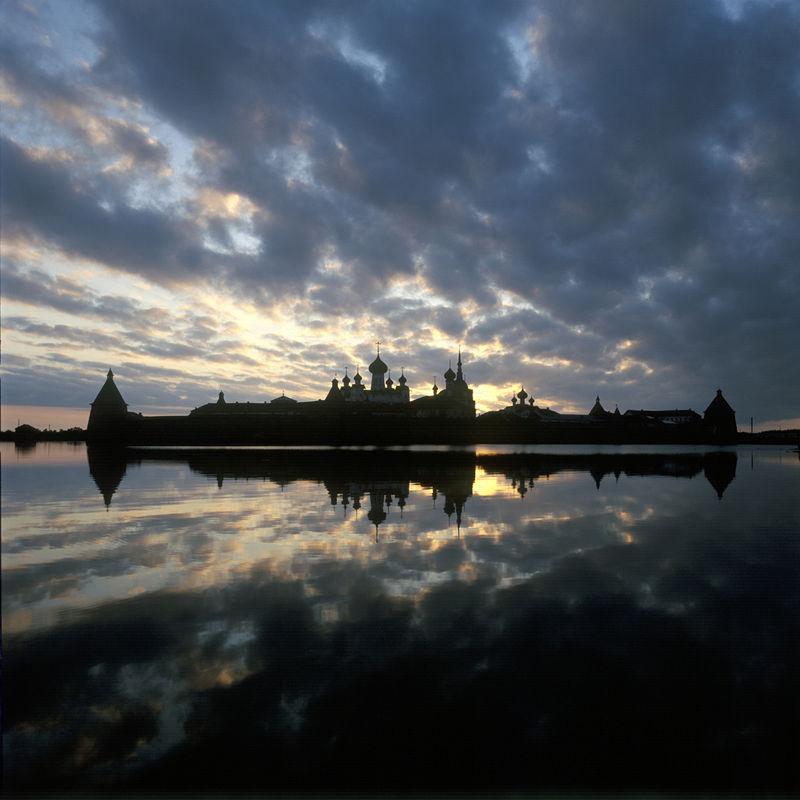 Solovki silhouette.