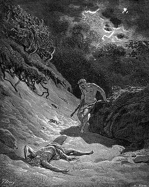 Г. Доре. Каин убивает Авеля