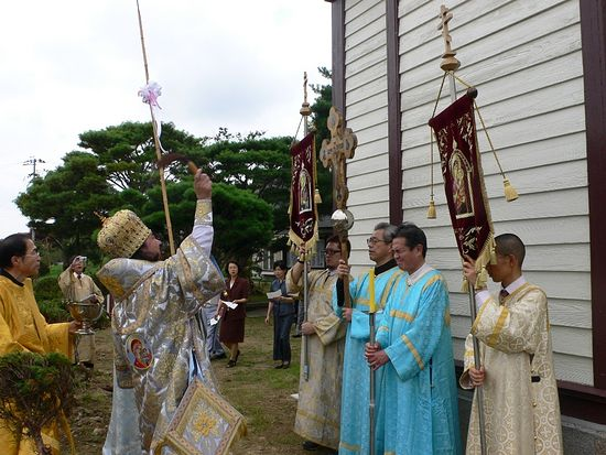 Освящение восстановленного храма в Каннари (28 августа 2011 года)