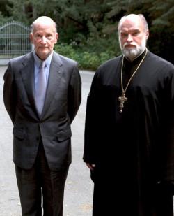 Болгарский царь Симеон и протоиерей Александр Новопашин