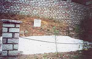 The foundation of St. Cosmas' parents' home.