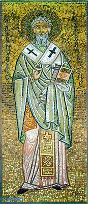St. Dionysius the Areopagite. 20th c. mosaic, Athens.