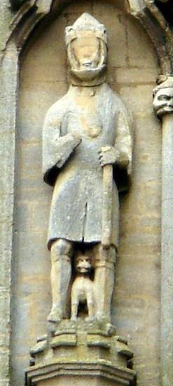 Валдеф Нортгемптонский (статуя в Кроулендском аббатстве, где он был захоронен)