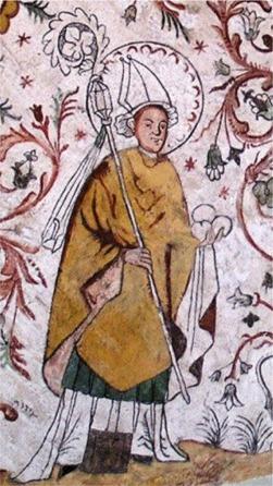 Изображение св. Эскила в одной из церквей Швеции