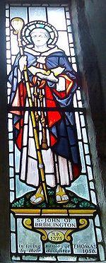 Изображение Джона из Бридлингтона в церкви всех святых в Твинге