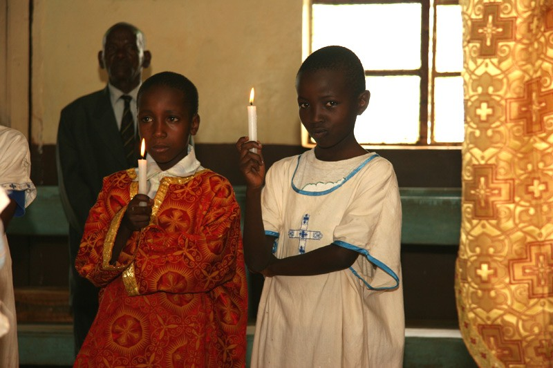 Hope for the Kikuyu.  The Kenyan altar boy's greatest treasure is his sticharion, the tunic worn during divine services.  Photo: Denis Makhanko
