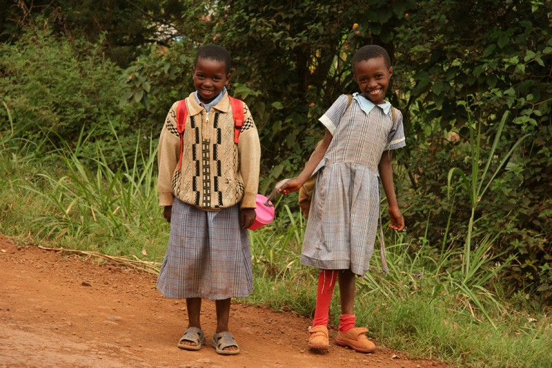 Hope for the Kikuyu.  For the local schoolchildren there are not only lessons, but a long walk to school and back.  Photo: Denis Makhanko
