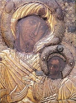 The Panagia Portaitissa, or Iveron icon of the Mother of God, Mt. Athos.