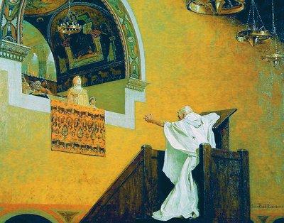 Свт. Иоанн Златоуст перед имп. Евдоксией. 1893 г. Худож. Ж. П. Лоран (Музей Августинцев, Тулуза)
