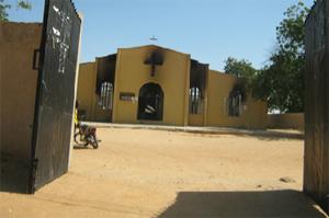 Церковь после атаки Boko Haram. Фото CNN