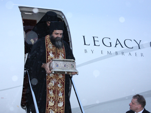 The Holy Cincture arrives in Volgograd.