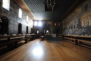 Загрузить увеличенное изображение. 1000 x 664 px. Размер файла 141702 b.  Трапезная монастыря Дионисиат