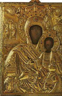 Загрузить увеличенное изображение. 700 x 1074 px. Размер файла 305549 b.  Икона Божией Матери Кукузелисса