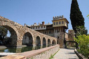 Старинный монастырский водопровод