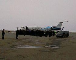 Борт, доставивший Пояс Богородицы, приземлился в аэропорту Ставрополя. Фото: Евгения Рыбалкина для KP.RU