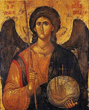 Архангел Михаил. Греческая икона, XIV в.