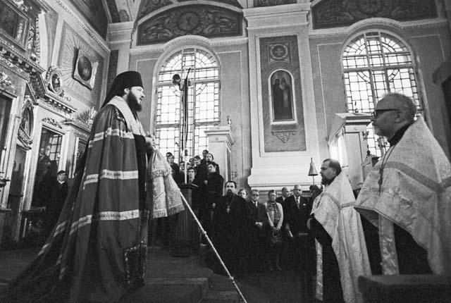 Ректор Ленинградских духовных академии и семинарии епископ Выборгский Кирилл, 1976 год. Фото ИТАР-ТАСС