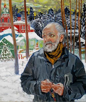 Владимир Крупин. Портрет работы В.Харлова
