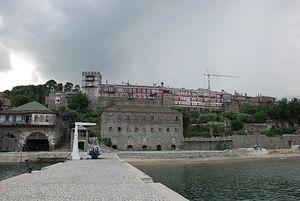 Вид из порта обители