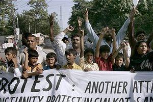 Одна из множества демонстраций против дискриминации христиан в Пакистане.