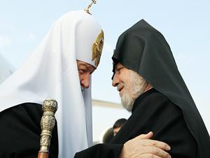 Патриарх Кирилл и Католикос всех армян Гарегин II