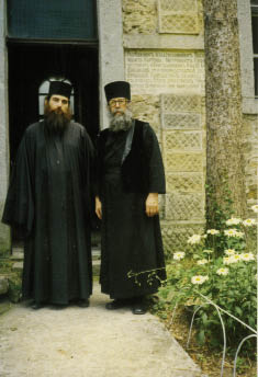С архимандритом Назарием (Терзиевым; † 2011), настоятелем и духовником Коколянского монастыря, Болгария