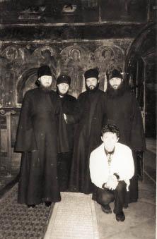На месте погребения преподобного Паисия Величковского. Нямецкий монастырь, Румыния