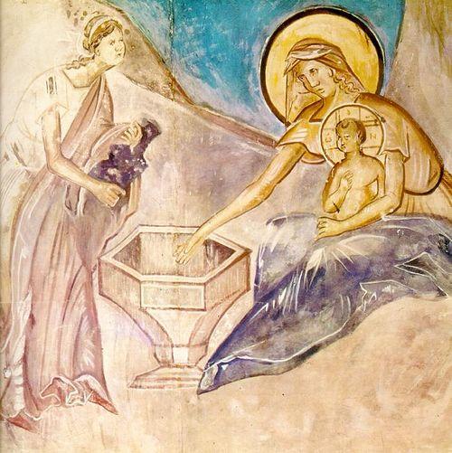 Копия фрески из храма Успения на Волотовом поле