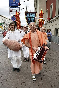Hare Krishnas in Moscow.