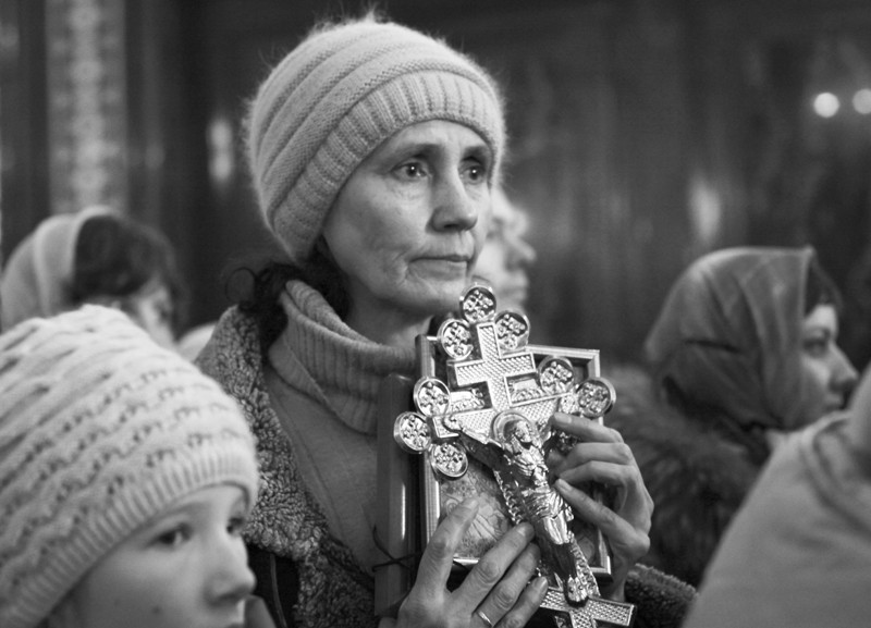 В очереди к Поясу Пресвятой Богородицы.  Фото: Юлия Руденко.