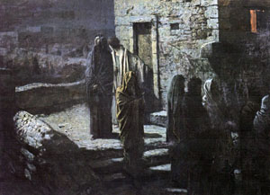 Ге Н. Выход Христа с учениками в Гефсиманский сад. 1889