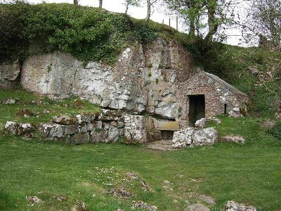St. Seirol's cell and well.