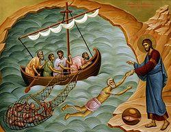 Загрузить увеличенное изображение. 500 x 382 px. Размер файла 267635 b.  Явление Воскресшего Христа на Тивериадском озере
