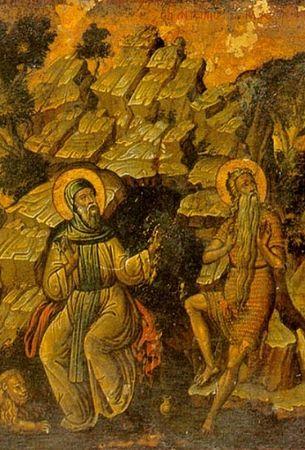 Прпп. Павел Фивейский и Антоний Великий