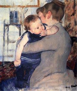 М.Кассат, «Мать с ребенком»