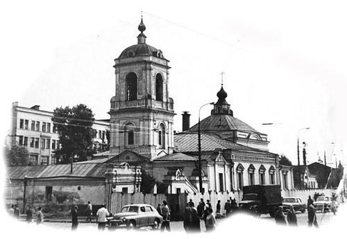 Храм Преображения Господня. Фото 1950-х годов
