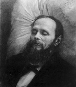 Feodor Dostoevsky on his deathbed.
