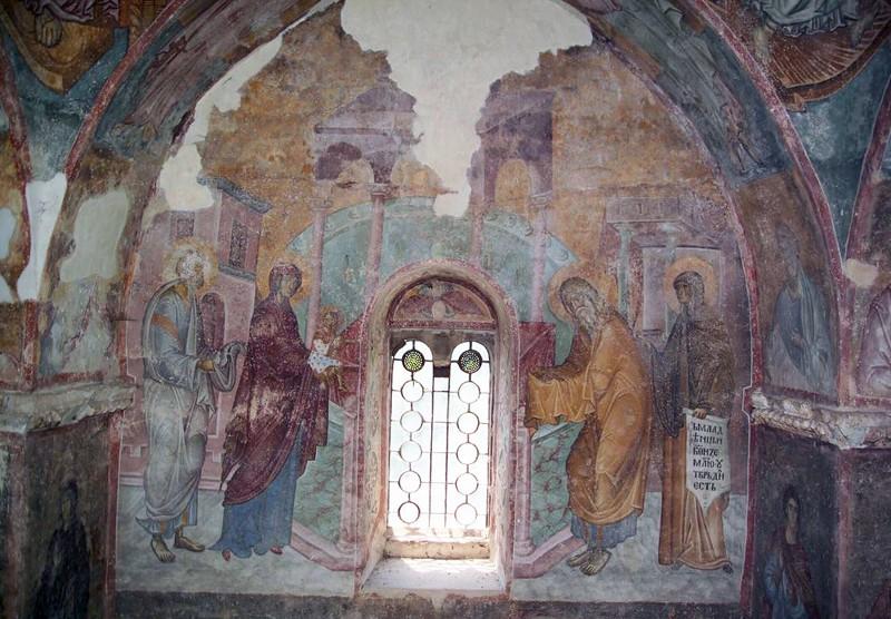 Роспись Троицкой церкви монастыря Сопочаны. Около 1265 года, Сербия