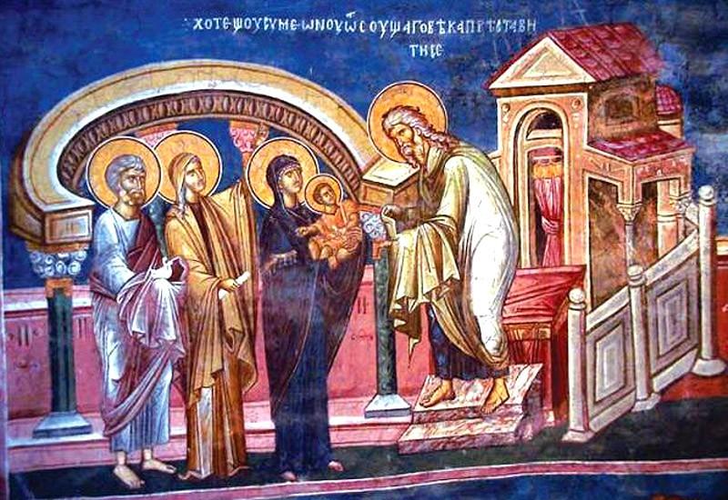 Сретение Господне: иконы и фрески